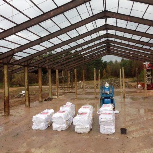 Referenz - Rückbau des Asbestdaches und der Stahlhalle